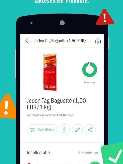 Codecheck App prüft Inhalststoffe jetzt auch auf Gluten und Laktose